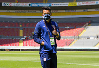 GUADALAJARA, MEXICO - MARCH 18: Sebastian Saucedo #10 of the United States checks out the field prior to the start of the game before a game between Costa Rica and USMNT U-23 at Estadio Jalisco on March 18, 2021 in Guadalajara, Mexico.