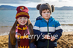 Enjoying the afternoon in Fenit on Monday, l to r: Ana and Cian Rocha Cournane.