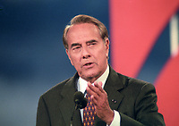 Former United States Senator Bob Dole (Republican of Kansas) delivers his speech accepting the nomination of the Republican Party to be its candidate for President of the United States at the San Diego Convention Center in San Diego, California on Thursday, August 15, 1996.<br /> Credit: Ron Sachs / CNP /MediaPunch