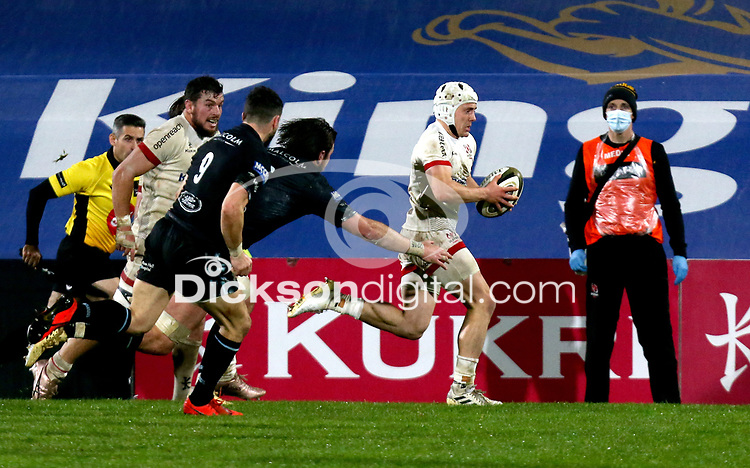 Monday 9th November 2020 | Ulster Rugby vs Glasgow Warriors<br /> <br /> Michael Lowry during the Guinness PRO14 Round 5 match between Ulster Rugby and Glasgow Warriors at Kingspan Stadium in Belfast, Northern Ireland. Photo by John Dickson / Dicksondigital