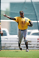 Pittsburgh Pirates third baseman Johan De Jesus (36) during an Instructional League Intrasquad Black & Gold game on September 21, 2016 at Pirate City in Bradenton, Florida.  (Mike Janes/Four Seam Images)