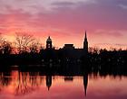 Apr. 1, 2013; Sunrise over St. Mary's Lake..Photo by Matt Cashore/University of Notre Dame