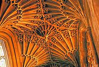 Bath Abbey aisle vaults, 1504-1518. Bath England. Gothic style.