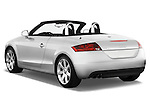 Rear three quarter view of a 2007 - 2010 Audi TT Roadster with top up