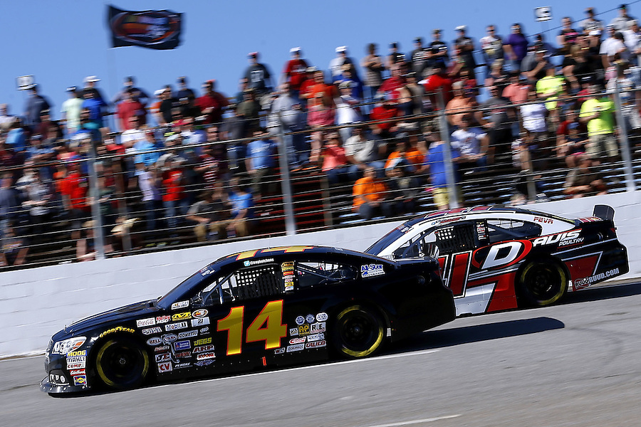 MOBILE, AL - MARCH 13: Trey Hutchens, driver of the #14 Hutchens Motorsports Chevrolet, races during the NASCAR K&N Pro Series East Mobile 150 on March 13, 2016 in Mobile, Alabama.  (Photo by Jonathan Bachman/NASCAR via Getty Images)