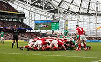 Saturday 8th February 2020 | Ireland vs Wales<br /> <br /> A Scrum during the 2020 6 Nations Championship   clash between Ireland and Wales at he Aviva Stadium, Lansdowne Road, Dublin, Ireland. Photo by John Dickson / DICKSONDIGITAL