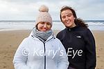 Rhiannon Sheehy (left) and Katelyn Doyle enjoying a stroll in Ballybunion on Friday.