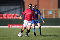 Adam Phillips of Morecambe and Bradley McClenaghan of Maldon during Maldon & Tiptree vs Morecambe, Emirates FA Cup Football at the Wallace Binder Ground on 8th November 2020