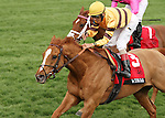 April 11, 2014: Wise Dan and jockey John Velazquez win the 26th running of the Maker's 46 Mile Grade 1 $300,000 at Keeneland racecourse for owner Morton Fink and trainer Charles LoPresti.  Candice Chavez/ESW/CSM