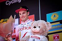 podium with race winner Attilio Viviani (ITA/Cofidis) <br /> <br /> 94th Schaal Sels 2019<br /> One Day Race: Merksem  >  Merksem  (UCI 1.1)<br /> ©kramon