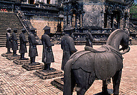 Stone Mandarin Honor Guards at Tomb of Khai Dinh Hue Vietnam.