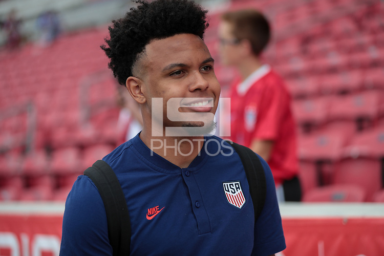 SANDY, UT - JUNE 10: Weston McKennie #8 of the United States before a game between Costa Rica and USMNT at Rio Tinto Stadium on June 10, 2021 in Sandy, Utah.