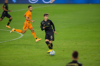 CARSON, CA - OCTOBER 28: Francisco Ginella #8 of the Los Angeles FC moves with the ball during a game between Houston Dynamo and Los Angeles FC at Banc of California Stadium on October 28, 2020 in Carson, California.