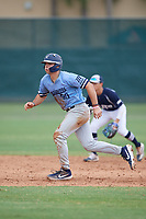Carter Graham (50) during the WWBA World Championship at the Roger Dean Complex on October 12, 2019 in Jupiter, Florida.  Carter Graham attends Chaminade College Preparatory High School in Calabasas, CA and is committed to Stanford.  (Mike Janes/Four Seam Images)