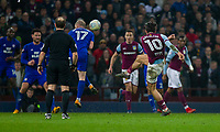 Jack Grealish of Aston Villa scores his side's winning goal during the Sky Bet Championship match between Aston Villa and Cardiff City at Villa Park, Birmingham, England on 10 April 2018. Photo by Mark  Hawkins / PRiME Media Images.