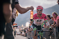 Rigoberto Uran (COL/EducationFirst-Drapac) rolling in at the finish<br /> <br /> Stage 10: Annecy > Le Grand-Bornand (159km)<br /> <br /> 105th Tour de France 2018<br /> ©kramon