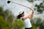 CHON BURI, THAILAND - FEBRUARY 18:  Candie Kung of Taiwan tees off on the 3rd hole during day two of the LPGA Thailand at Siam Country Club on February 18, 2011 in Chon Buri, Thailand.  Photo by Victor Fraile / The Power of Sport Images