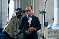 United States Senator Mike Braun (Republican of Indiana) prepares for a television interview at the United States Capitol in Washington D.C., U.S., on Wednesday, June 24, 2020.  Credit: Stefani Reynolds / CNP/AdMedia