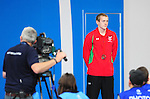 Wales' Jack Thomas on the podium after taking the bronze medal in the men's para-sport 200m freestyle S14 final<br /> <br /> Photographer Chris Vaughan/Sportingwales<br /> <br /> 20th Commonwealth Games - Day 3 - Saturday 26th July 2014 - Swimming - Tollcross International Swimming Centre - Glasgow - UK