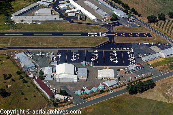 aerial photograph Lampson Field, Lakeport, Lake County, California