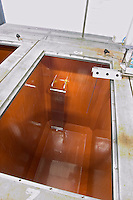 fermentation tank interior and cooling curtain delas freres tournon-s-r rhone france