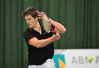 Rotterdam, Netherlands, Januari 24, 2016,  ABNAMROWTT Supermatch, Sander Arends (NED)<br /> Photo: Tennisimages/Henk Koster