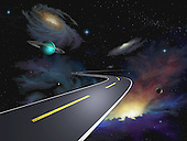 Road through the universe