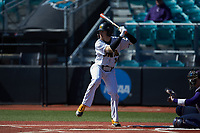 Nick Colina (34) of the Kennesaw State Owls at bat against the Western Carolina Catamounts at Springs Brooks Stadium on February 22, 2020 in Conway, South Carolina. The Owls defeated the Catamounts 12-0.  (Brian Westerholt/Four Seam Images)
