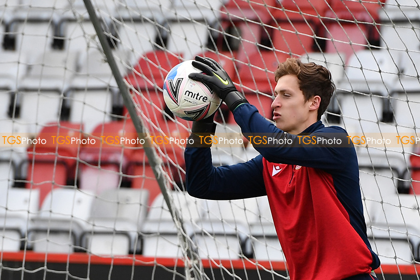 Jamie Cumming of Stevenage FC during Stevenage vs Barrow, Sky Bet EFL League 2 Football at the Lamex Stadium on 27th March 2021