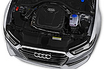 Car stock 2018 Audi A6 Base 4 Door Sedan engine high angle detail view