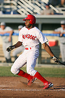 July 8th, 2007:  Justin Roberson of the Batavia Muckdogs, Short-Season Class-A affiliate of the St. Louis Cardinals at Dwyer Stadium in Batavia, NY.  Photo by:  Mike Janes/Four Seam Images