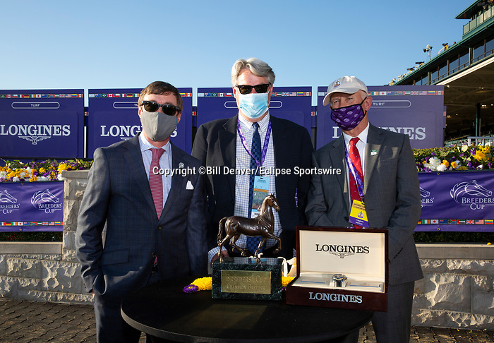 November 7, 2020 : Breeders' Award, Longines Distaff on Breeders' Cup Championship Saturday at Keeneland Race Course in Lexington, Kentucky on November 7, 2020. Bill Denver/Breeders' Cup/Eclipse Sportswire/CSM