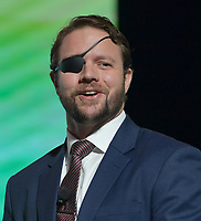 WEST PALM BEACH, FL - DECEMBER 21: Dan Crenshaw Speaks at the 2019 Turning Point USA Student Action Summit - Day 3 at the Palm Beach County Convention Center. Daniel Reed Crenshaw is an American politician and former United States Navy SEAL officer serving in the United States House of Representative for Texas's 2nd congressional district since 2019. A member of the Republican Party, he was elected in the 2018 midterms on December 21, 2019 in West Palm Beach, Florida.<br /> <br /> <br /> People:  Dan Crenshaw