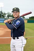 Northwest Arkansas Naturals infielder Gabriel Cancel (18) poses for a photo on May 18, 2019, at Arvest Ballpark in Springdale, Arkansas. (Jason Ivester/Four Seam Images)