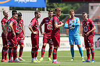 KV Mechelen players pictured at the start of  a friendly soccer game between KV Mechelen and the Greek Volos NFC during the preparations for the 2021-2022 season , on saturday 17 of July 2021 in GEEL , Belgium . PHOTO SEVIL OKTEM | SPORTPIX
