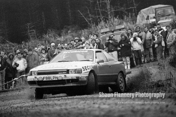 Pix: Shaun Flannery/shaunflanneryphotography.com<br /> <br /> COPYRIGHT PICTURE>>SHAUN FLANNERY>01302-570814>>07778315553>><br /> <br /> Audi Sport International Rally 1989<br /> <br /> David Llewellyn and Phil Short<br /> Toyota Celica GT