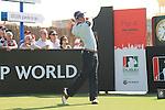 Dubai World Championship Golf. Earth Course,.Jumeirah Golf Estate, Dubai, U.A.E...Rafael Cabrera Bello teeing off on the first during the second round of the Dubai World Golf championship..Photo: Fran Caffrey/www.golffile.ie...