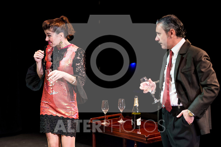 "Noemi Rodriguez and Jose Emilio Vera during the theater play of ""Addio del Passato"" at Fernan Gomez Theater in Madrid. March 15, 2017. (ALTERPHOTOS/Borja B.Hojas)"