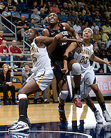 Berkeley, CA - March 4th, 2012: Nnemkadi Ogwumike of Stanford in action during a basketball game against California in Berkeley, California.   Stanford won, 86-61.
