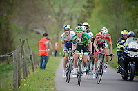 Thomas Voeckler (FRA/Europcar), Tim Wellens (BEL/Lotto-Belisol), Pieter Weening (NLD/Orica-GreenEDGE) & company up the 'steepest climb' in Holland: Keutenberg (22%)<br /> <br /> Amstel Gold Race 2014