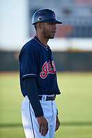AZL Indians Red manager Jerry Owens (7) during an Arizona League game against the AZL Padres 1 on June 23, 2019 at the Cleveland Indians Training Complex in Goodyear, Arizona. AZL Indians Red defeated the AZL Padres 1 3-2. (Zachary Lucy/Four Seam Images)