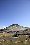 Judea, Herodion, built by Herod the Great as a fortified palace, the lake in the Roman garden at the lower city
