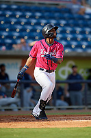 Pensacola Blue Wahoos Lewin Diaz (11) at bat during a Southern League game against the Mobile BayBears on July 25, 2019 at Hank Aaron Stadium in Pensacola, Florida.  Pensacola defeated Mobile 2-1 in the first game of a doubleheader.  (Mike Janes/Four Seam Images)