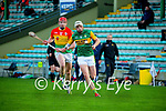 Shane Nolan, Kerry in action against Edward Byrne, Carlow during the Joe McDonagh hurling cup fourth round match between Kerry and Carlow at Austin Stack Park on Saturday.
