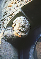 Ely: Cathedral--Prior's Door, detail. Photo '90.
