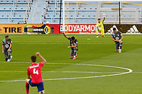 ST PAUL, MN - SEPTEMBER 9: Minnesota United FC Players kneel before a game between FC Dallas and Minnesota United FC at Allianz Field on September 9, 2020 in St Paul, Minnesota.