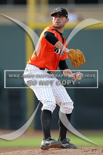 Erie Seawolves pitcher Duane Below during a game vs. the Reading Phillies at Jerry Uht Park in Erie, Pennsylvania;  July 19, 2010.   Reading defeated Erie 6-1.  Photo By Mike Janes/Four Seam Images