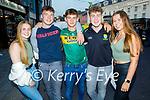 Enjoying the evening in Killarney on Saturday, l to r:   Fiona Sheehan, Eoin Walsh, Eddie McCarthy, Earnán Ferris (Ardfert) and Sara Lucid.