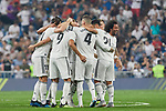 Real Madrid's Real Madrid's players celebrate goal during La Liga match. September 01, 2018. (ALTERPHOTOS/A. Perez Meca)