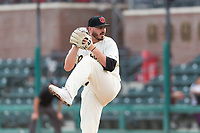 Visalia Rawhide starting pitcher Cole Stapler (40) during a California League game against the Rancho Cucamonga Quakes on April 8, 2019 in Visalia, California. Rancho Cucamonga defeated Visalia 4-1. (Zachary Lucy/Four Seam Images)